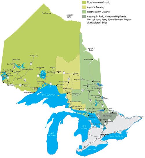 Tourism Areas of Northern Ontario